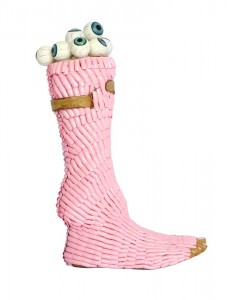 Pink prosthetic foot