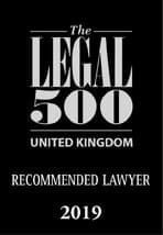 Legal 500 UK Recommended Lawyer 2019