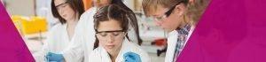 School children in a science class