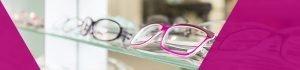 Shelf of reading glasses