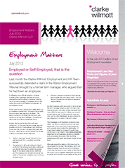 Employment matters July 2013 front cover