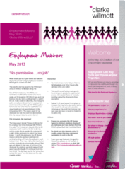 Employment matters May 2013 front cover
