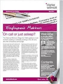 Employment matters May 2014 front cover