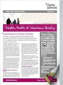 Wealth, Health & Inheritance briefing August 2014 front cover