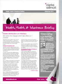 Wealth, Health & Inheritance briefing September 2014 front cover