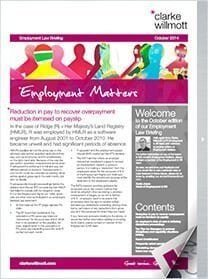 Employment matters October 2014 front cover
