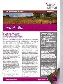 Field talk Autumn 2014 front cover