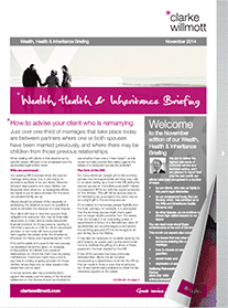 Wealth, Health & Inheritance briefing November 2014 front cover