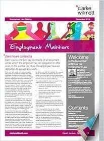 Employment matters November 2014 front cover