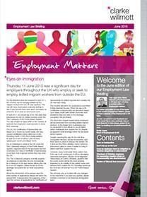 Employment matters June 2015 front cover