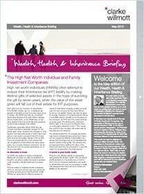 Wealth, Health & Inheritance briefing May 2015 front cover
