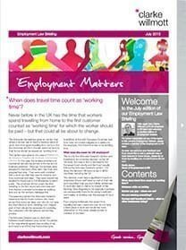Employment matters July 2015 front cover
