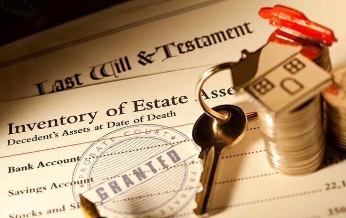 Probate documents- last will and testament, inventory of estate, keys