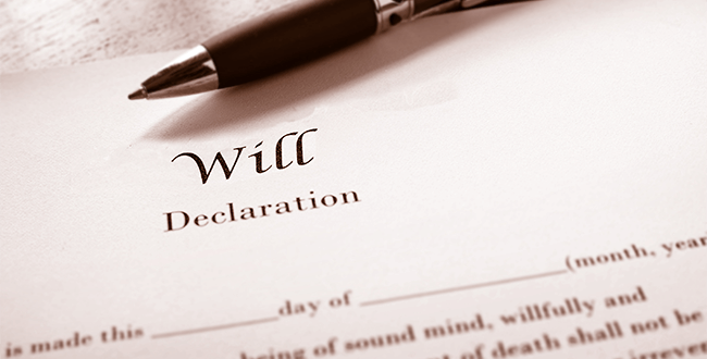 An Will declaration, about to be signed