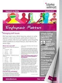 Employment matters September 2015 front cover