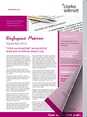Employment Matters – September 2013