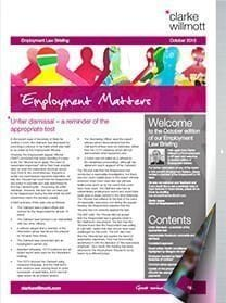 Employment matters October 2015 front cover