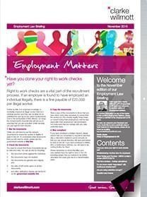 Employment matters November 2015 front cover