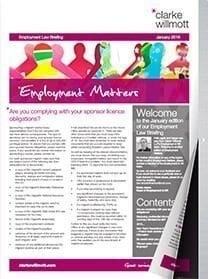 Employment matters January 2016 front cover