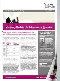Wealth, health & inheritance briefing - February 2016 - front cover