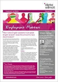 Employment matters February 2016 front cover
