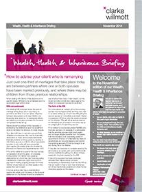 Wealth, Health and Inheritance Briefing – November 2014