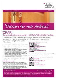 CRAR: Commercial rent arrears recovery document