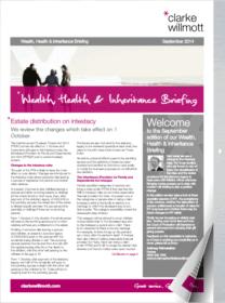 Wealth, Health and Inheritance Briefing – September 2014
