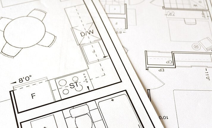 Floor plan of a house or flat
