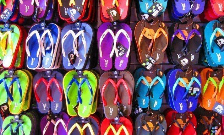 Flip flops at a shop