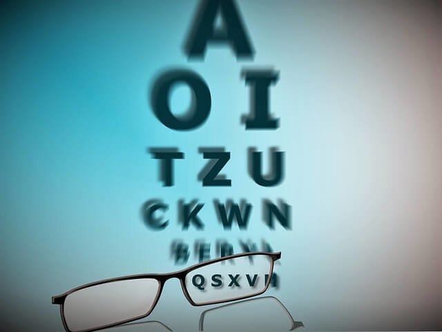 glasses eye test