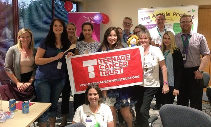 Taunton team supporting Teenage Cancer Trust and Reminiscence Learning