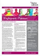 Employment Matters - October 2016 front page