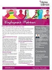 Employment matters January 2017 front cover