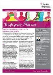Employment matters March 2017 front cover