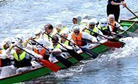 Clarke Willmott team competing in the Taunton Dragon Boat Race 2017