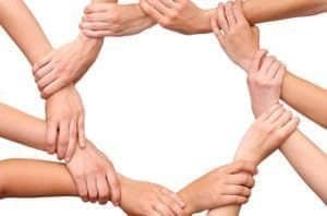 Corporate Responsibility image (hands holding)