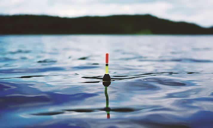 Fishing lure in water