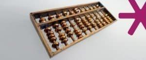 Bronze coloured metal abacus