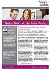 Wealth, Health and Inheritance Briefing - July 2017 front cover