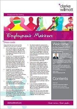 Employment Matters - August 2017 front cover