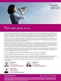 Trade mark watch service