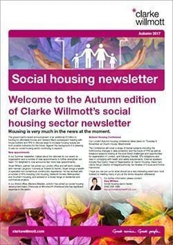 Clarke Willmott's social housing newsletter - Autumn 2017 - front page cover