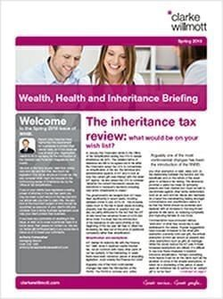 Wealth Health and Inheritance Briefing - Spring 2018
