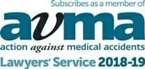 Action against medical accidents lawyers' service 2018-19 logo