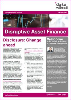 Disruptive Asset Finance - Autumn 2018