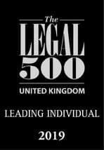 Legal 500 UK Leading Individual 2019