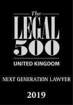 Legal 500 UK Next Generation Lawyer 2019