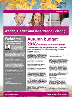 Wealth Health and Inheritance Briefing - November 2018