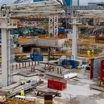 View of Reactor 1 nuclear island at Hinkley Point C - imagecourtesy of EDF Energy.